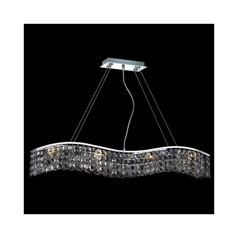 Elegant Lighting 2041D36C-SS Contour 8-Light Crystal Pendant Finished