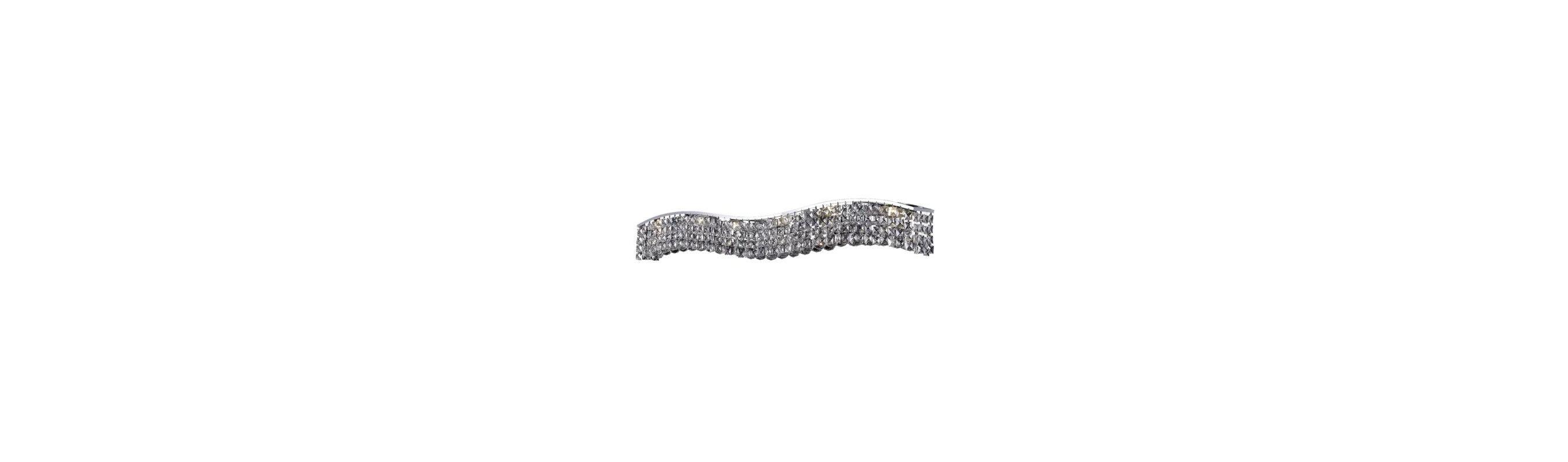 Elegant Lighting 2041W44C Contour 10-Light Crystal Wall Sconce