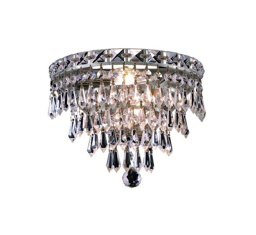 Elegant Lighting 2526W12C Tranquil 3-Light Crystal Wall Sconce