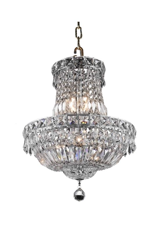 Elegant Lighting 2528D14C Tranquil 6-Light Two-Tier Crystal Sale $606.00 ITEM: bci2014261 ID#:2528D14C/RC UPC: 848145046817 :