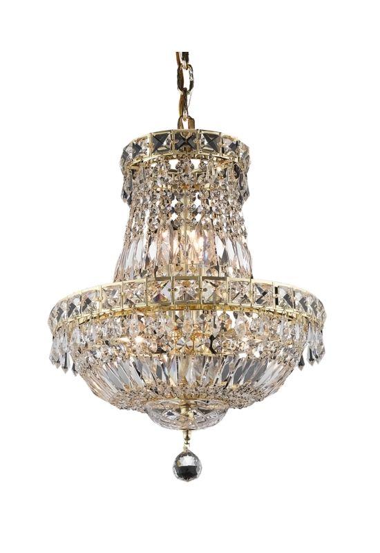 Elegant Lighting 2528D14G Tranquil 6-Light Two-Tier Crystal