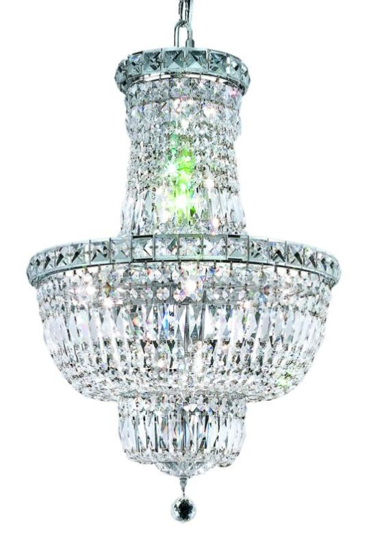 Elegant Lighting 2528D18C Tranquil 12-Light Two-Tier Crystal Sale $7182.00 ITEM: bci2014272 ID#:2528D18C/SS UPC: 848145046916 :