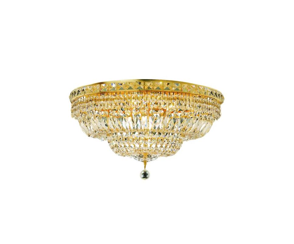 Elegant Lighting 2528F24G Tranquil 12-Light Single-Tier Flush Mount Sale $1774.00 ITEM: bci2014339 ID#:2528F24G/SA UPC: 848145047586 :