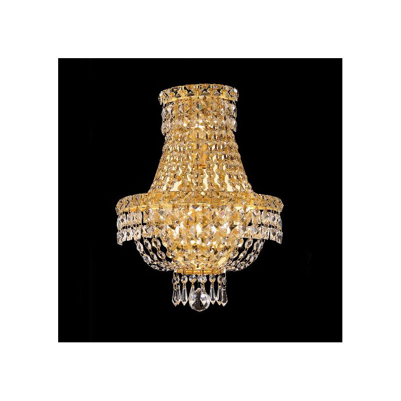 Elegant Lighting 2528W12G Tranquil 3-Light Crystal Wall Sconce