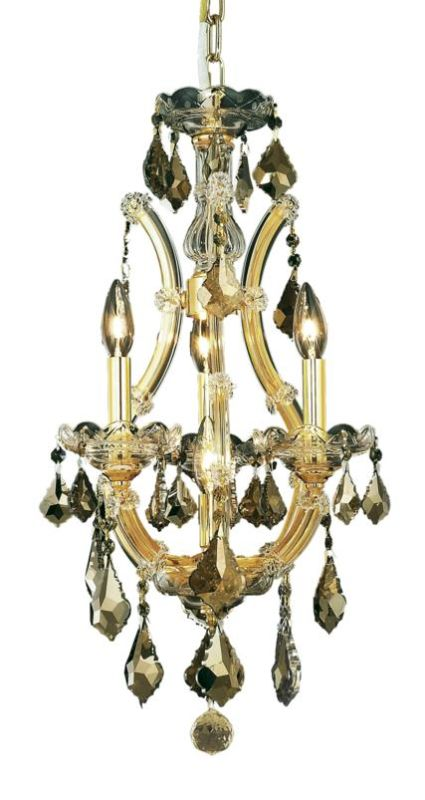 Elegant Lighting 2800D12G-GT Maria Theresa 4-Light Single-Tier Sale $1516.00 ITEM: bci2014400 ID#:2800D12G-GT/SS UPC: 848145049535 :