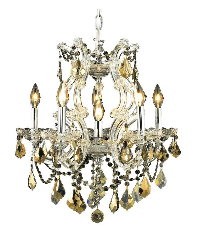 Elegant Lighting 2800D20C-GT Maria Theresa 6-Light Single-Tier