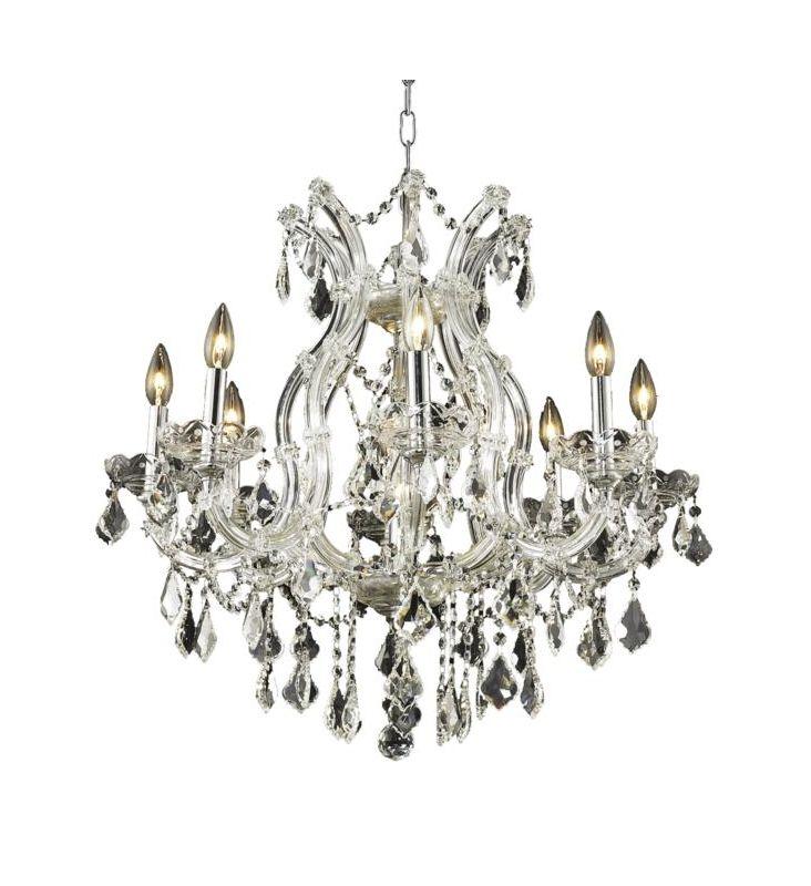 Elegant Lighting 2800D26C Maria Theresa 9-Light Single-Tier Crystal