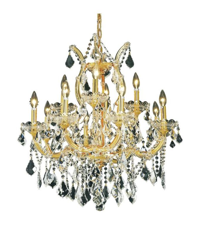 Elegant Lighting 2800D27G Maria Theresa 13-Light Two-Tier Crystal Sale $1568.00 ITEM: bci2014434 ID#:2800D27G/EC UPC: 848145050623 :