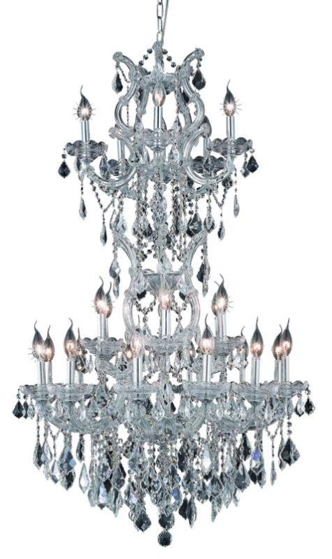 Elegant Lighting 2800D30SC Maria Theresa 25-Light 3 Tier Crystal