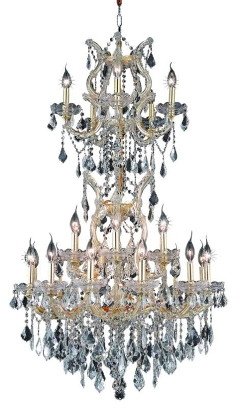 Elegant Lighting 2800D30SG Maria Theresa 25-Light 3 Tier Crystal
