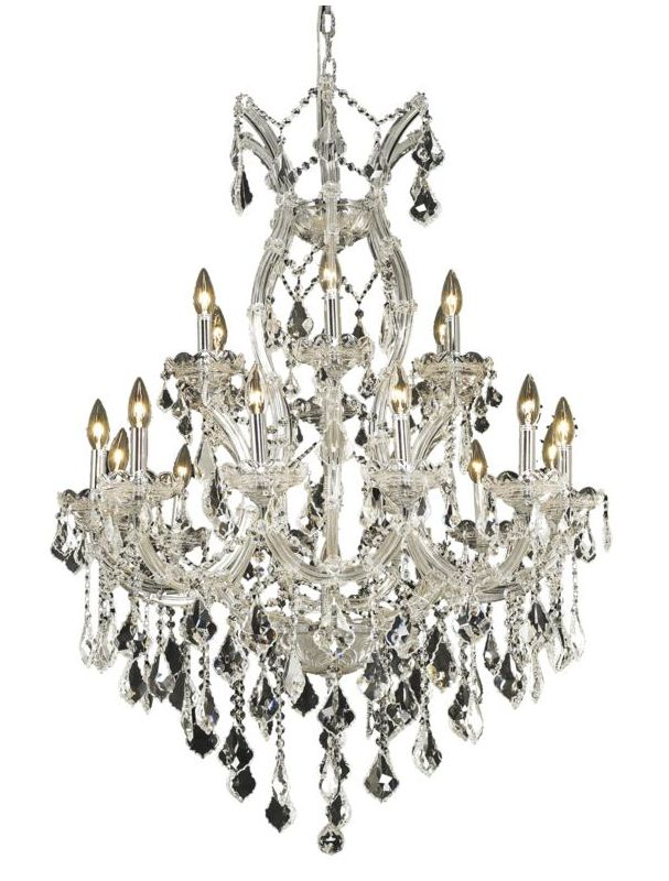 Elegant Lighting 2800D32C Maria Theresa 19-Light Two-Tier Crystal