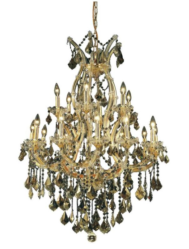 Elegant Lighting 2800D32G-GT Maria Theresa 19-Light Two-Tier Crystal