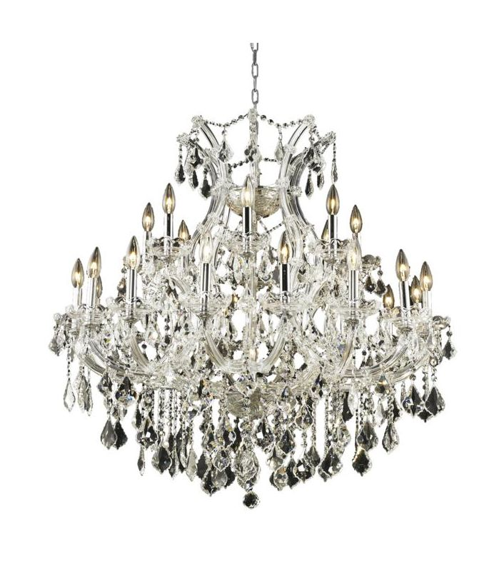 Elegant Lighting 2800D36C Maria Theresa 24-Light Two-Tier Crystal