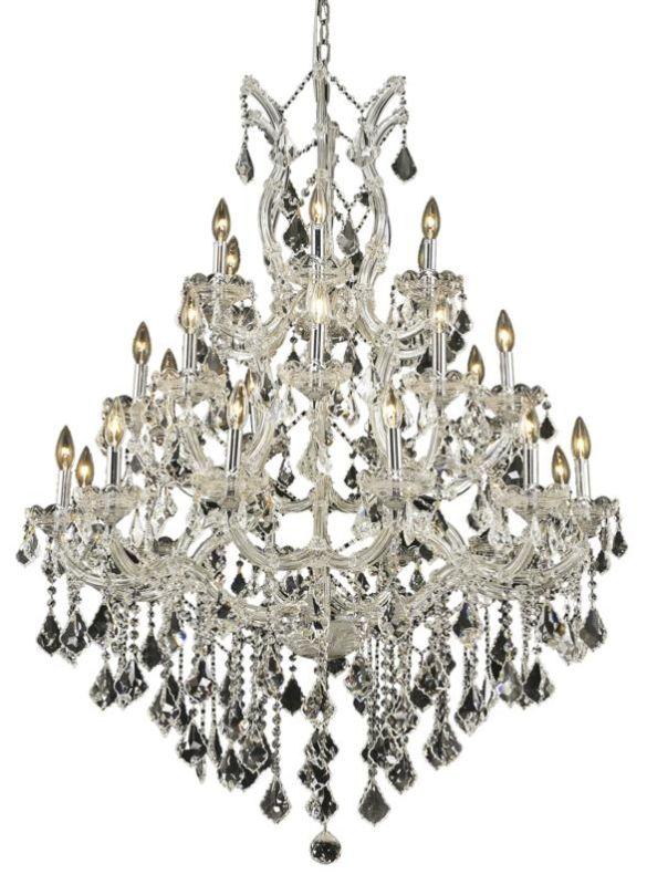 Elegant Lighting 2800D38C Maria Theresa 28-Light Three-Tier Crystal