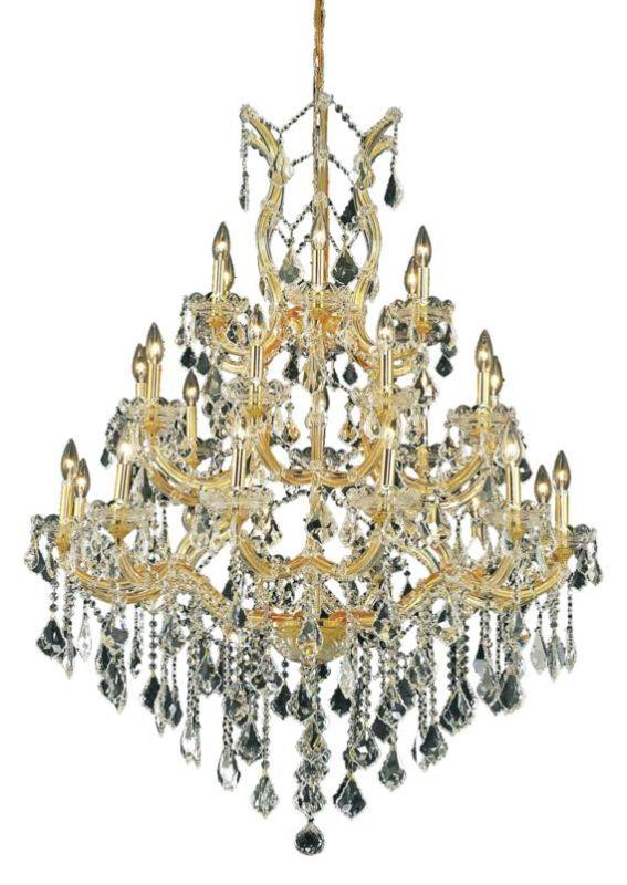 Elegant Lighting 2800D38G Maria Theresa 28-Light Three-Tier Crystal