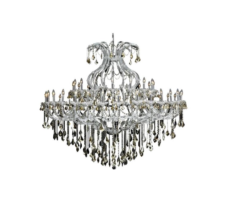 Elegant Lighting 2800G72C-GT Maria Theresa 49-Light Two-Tier Crystal