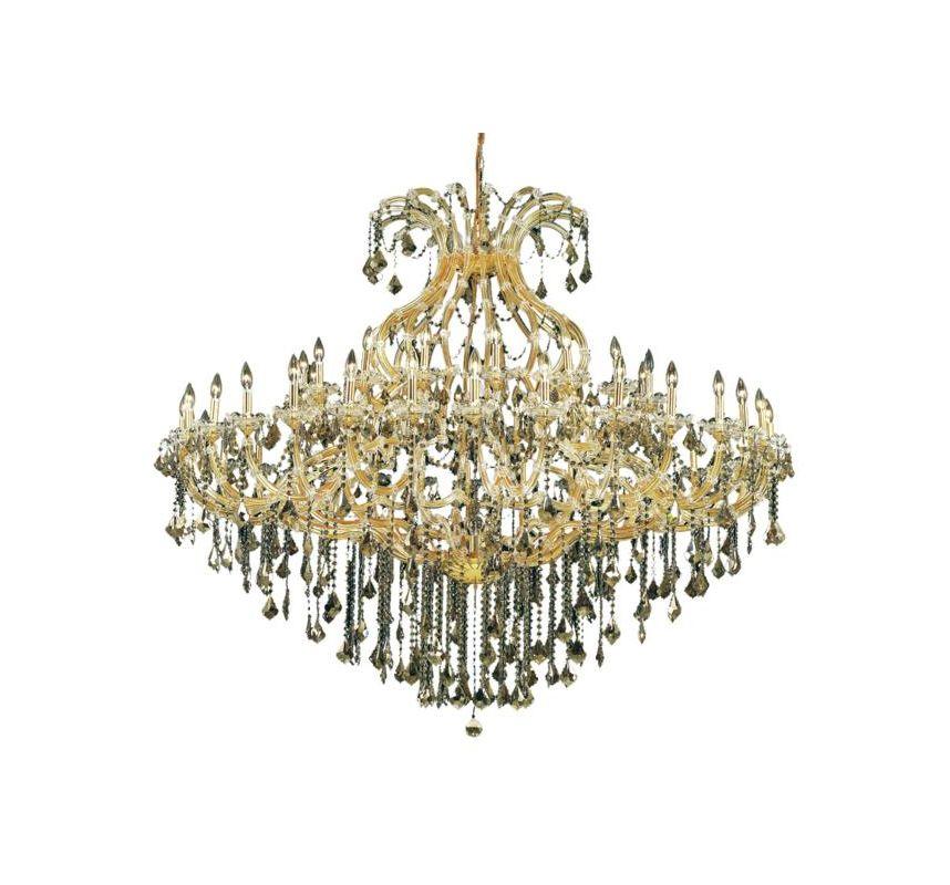 Elegant Lighting 2800G72G Maria Theresa 49-Light Two-Tier Crystal