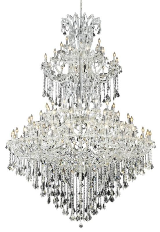 Elegant Lighting 2800G96C Maria Theresa 85-Light Five-Tier Crystal