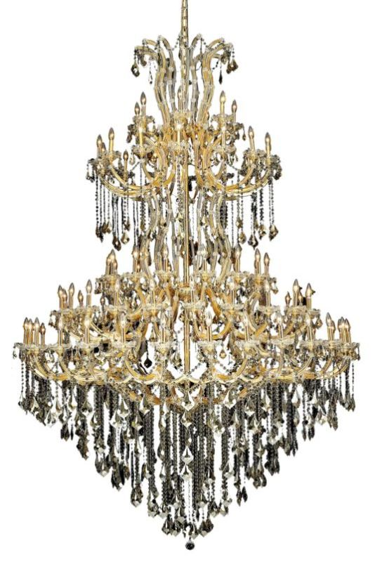 Elegant Lighting 2800G96G-GT Maria Theresa 85-Light Five-Tier Crystal