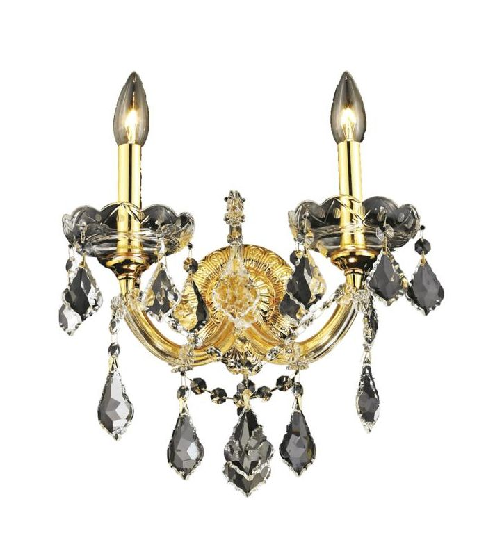 Elegant Lighting 2800W2G Maria Theresa 2-Light Crystal Wall Sconce Sale $284.00 ITEM: bci2014615 ID#:2800W2G/SA UPC: 848145053709 :