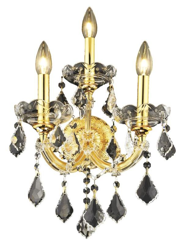 Elegant Lighting 2800W3G Maria Theresa 3-Light Crystal Wall Sconce