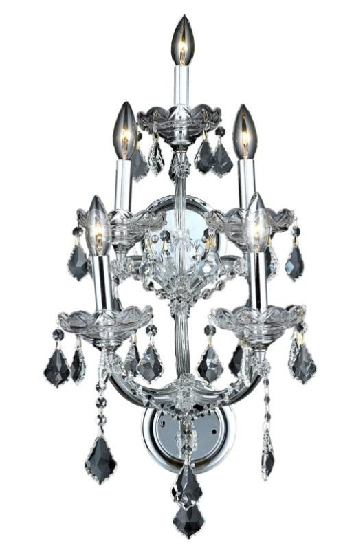 Elegant Lighting 2800W5C Maria Theresa 5-Light Crystal Wall Sconce