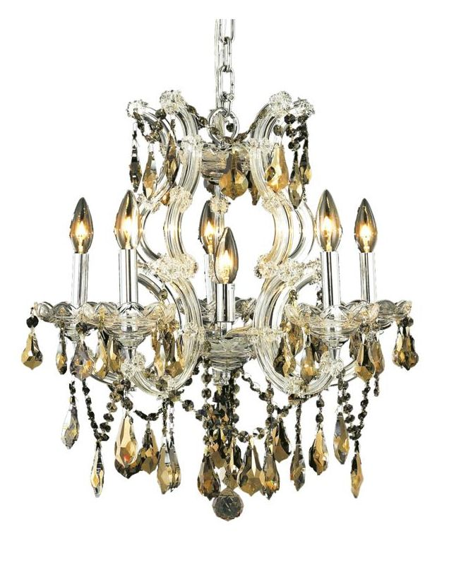 Elegant Lighting 2801D20C-GT Maria Theresa 6-Light Single-Tier Sale $2338.00 ITEM: bci2014666 ID#:2801D20C-GT/SS UPC: 848145054430 :