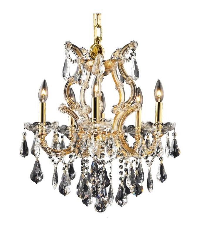 Elegant Lighting 2801D20G Maria Theresa 6-Light Single-Tier Crystal Sale $606.00 ITEM: bci2014667 ID#:2801D20G/RC UPC: 848145054447 :