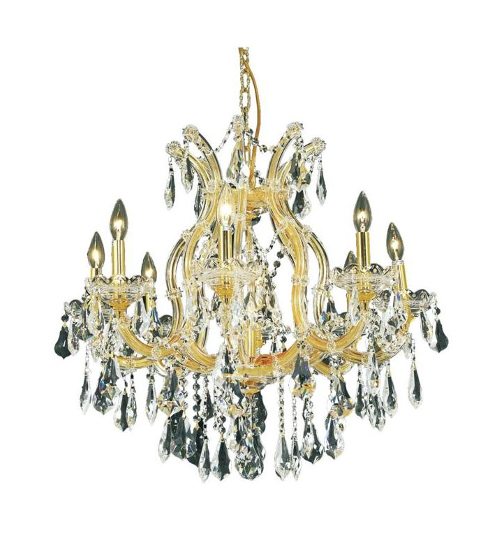 Elegant Lighting 2801D26G Maria Theresa 9-Light Single-Tier Crystal Sale $3614.00 ITEM: bci2014676 ID#:2801D26G/SS UPC: 848145054539 :