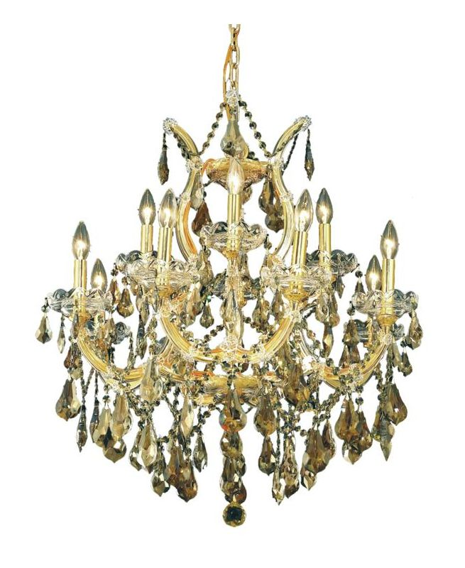 Elegant Lighting 2801D27G-GT Maria Theresa 13-Light Two-Tier Crystal Sale $5172.00 ITEM: bci2014686 ID#:2801D27G-GT/SS UPC: 848145054638 :