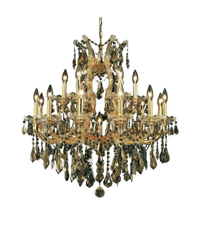 Elegant Lighting 2801D30G-GT Maria Theresa 19-Light Three-Tier Sale $2100.00 ITEM: bci2014693 ID#:2801D30G-GT/RC UPC: 848145054706 :