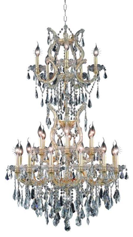 Elegant Lighting 2801D30SG Maria Theresa 25-Light Three-Tier Crystal
