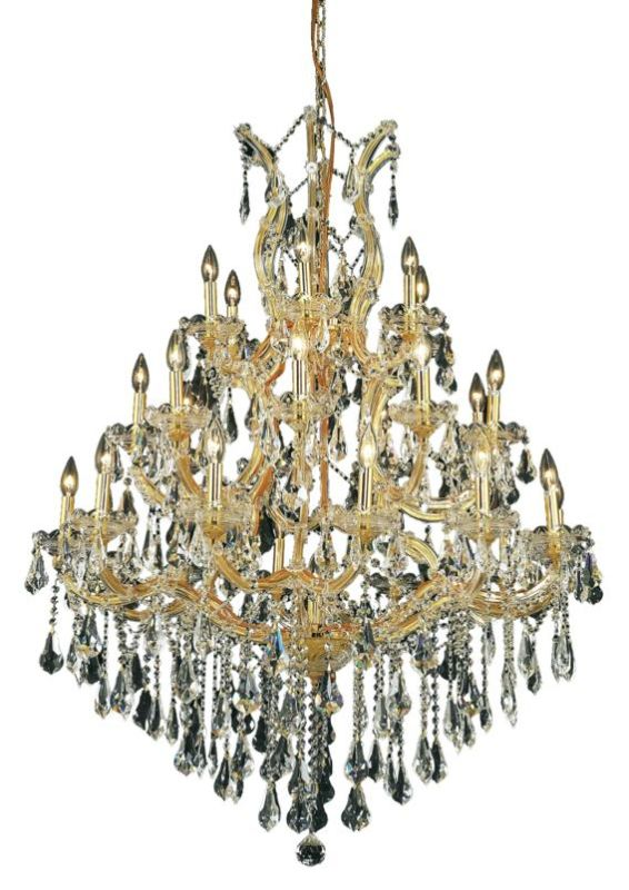 Elegant Lighting 2801D38G Maria Theresa 28-Light Three-Tier Crystal Sale $10708.00 ITEM: bci2014732 ID#:2801D38G/SS UPC: 848145055093 :