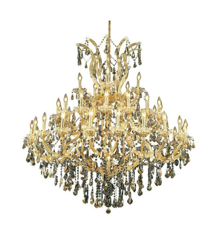 Elegant Lighting 2801G52G-GT Maria Theresa 41-Light Three-Tier Sale $4640.00 ITEM: bci2014757 ID#:2801G52G-GT/RC UPC: 848145055345 :
