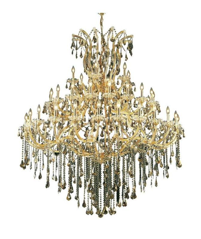 Elegant Lighting 2801G60G-GT Maria Theresa 49-Light 3 Tier Crystal