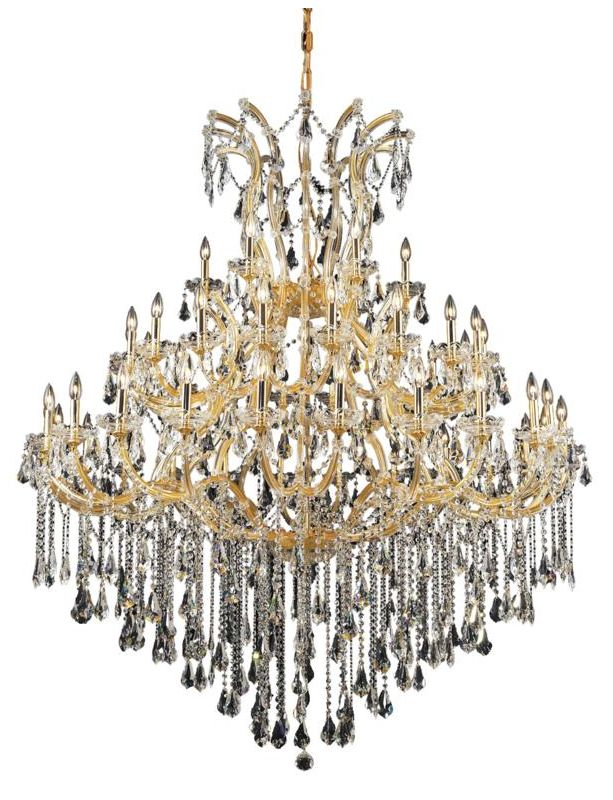 Elegant Lighting 2801G60G Maria Theresa 49-Light 3 Tier Crystal