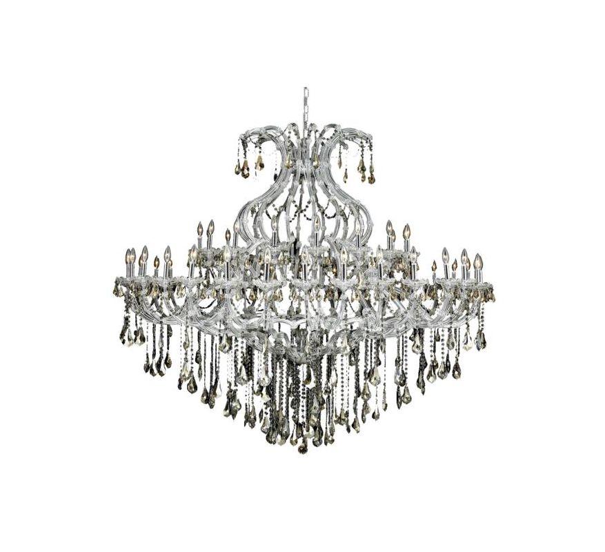 Elegant Lighting 2801G72C-GT Maria Theresa 49-Light Two-Tier Crystal