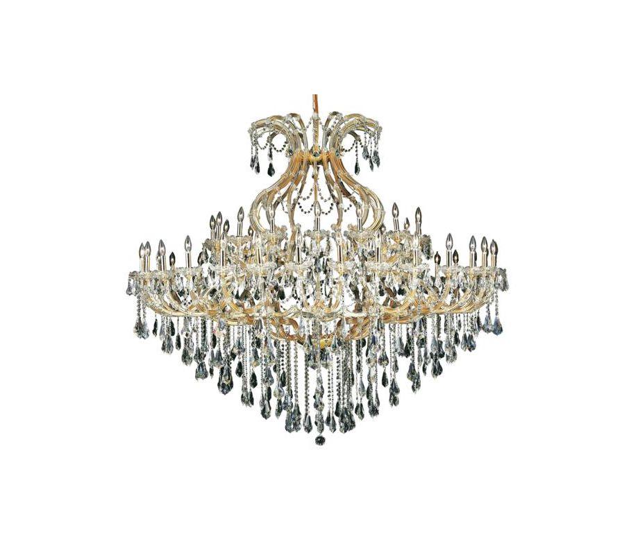 Elegant Lighting 2801G72G Maria Theresa 49-Light Two-Tier Crystal