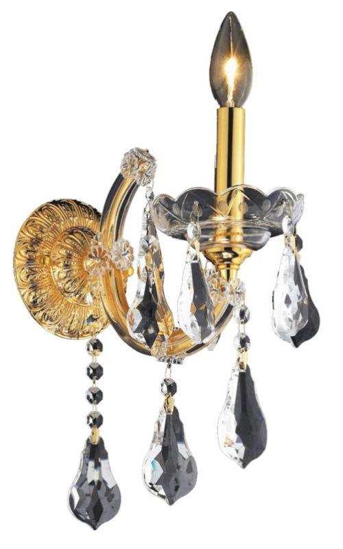 Elegant Lighting 2801W1G Maria Theresa 1-Light Crystal Wall Sconce Sale $304.00 ITEM: bci2014796 ID#:2801W1G/SS UPC: 848145055734 :