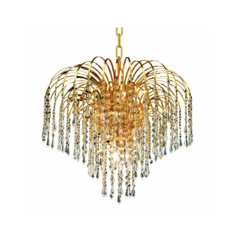Elegant Lighting 6801D19G Falls 6-Light Single Tier Crystal