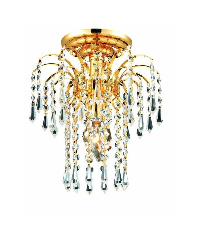 Elegant Lighting 6801F9G Falls 1-Light Single-Tier Flush Mount Sale $174.00 ITEM: bci2014989 ID#:6801F9G/EC UPC: 848145058339 :