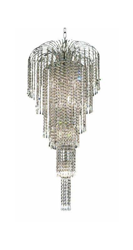 Elegant Lighting 6801G19C Falls 9-Light Five-Tier Crystal Chandelier