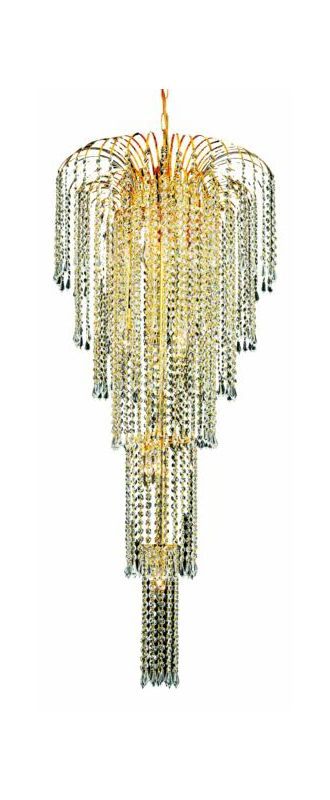 Elegant Lighting 6801G21G Falls 9-Light Five-Tier Crystal Chandelier