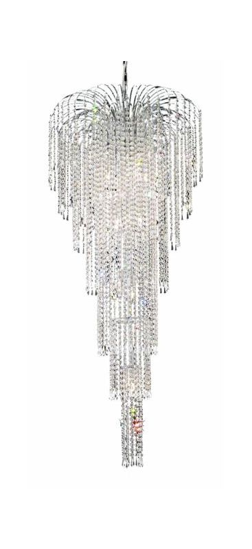 Elegant Lighting 6801G25C Falls 11-Light Six-Tier Crystal Chandelier