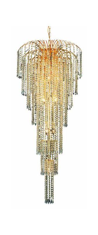 Elegant Lighting 6801G25G Falls 11-Light Six-Tier Crystal Chandelier