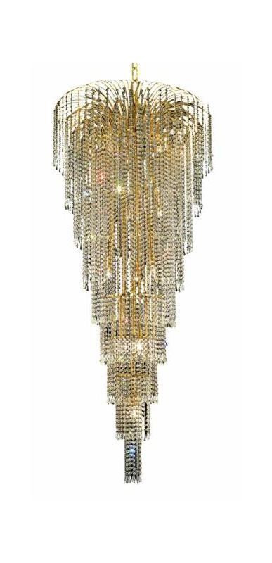 Elegant Lighting 6801G30G Falls 15-Light Eight-Tier Crystal