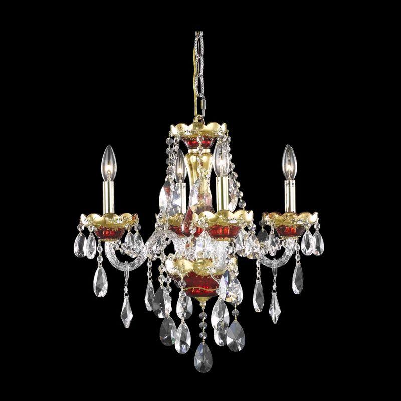 Elegant Lighting 7810D19G Alexandria 4-Light Single-Tier Crystal