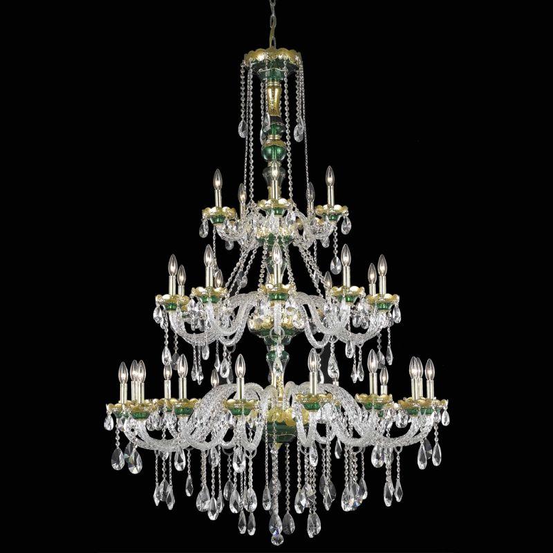 Elegant Lighting 7810G45GN Alexandria 30-Light Three-Tier Crystal Sale $5302.00 ITEM: bci2015112 ID#:7810G45GN/SA UPC: 848145060011 :