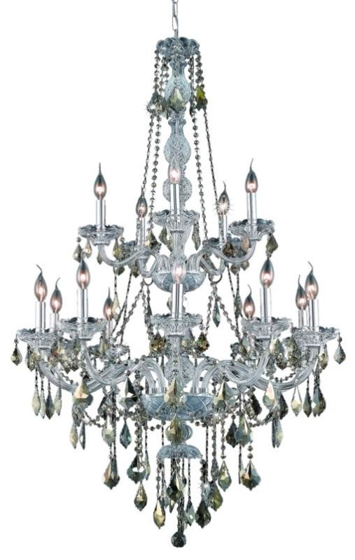Elegant Lighting 7815G33C-GT Verona 15-Light Two-Tier Crystal Sale $2380.00 ITEM: bci2015130 ID#:7815G33C-GT/RC UPC: 848145060370 :