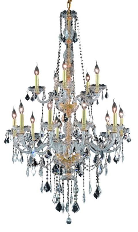 Elegant Lighting 7815G33G Verona 15-Light Two-Tier Crystal